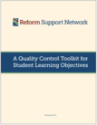 Quality Control Toolkit for SLOs cover