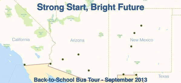 map for bus tour
