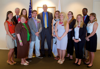 Teacher Leaders with Dean Fran Welch, William Youngblood, and Arne Duncan