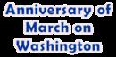 Anniversary of March on Washington