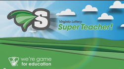 Virginia Lottery Super Teacher logo