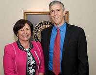 Secretary Arne Duncan welcomes New Zealand's Minister of Education Hekia Parata