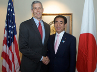Secretary Arne Duncan welcomes Japanese Minister of Education Shimomura