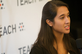Student teacher at a TEACH event.