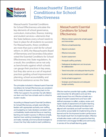 Massachusetts' Essential Conditions for School Effectiveness