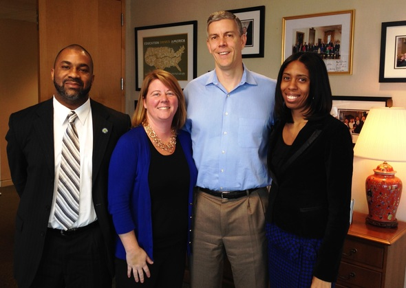 Arne Duncan with the Principal Ambassador Fellows