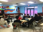 Meeting with Cesar Chavez school students