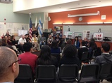 Arne Duncan and student roundtable in Chicago