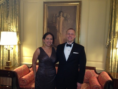 Jen Bado-Aleman and her husband at the White House