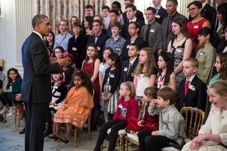President Obama and student's film festival