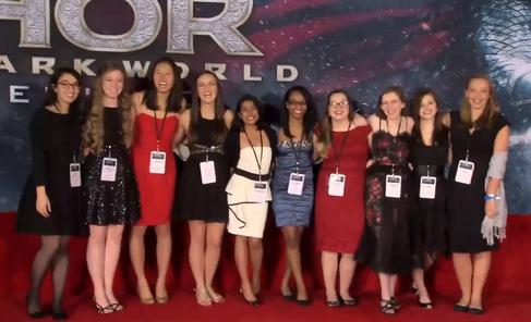 girls on red carpet
