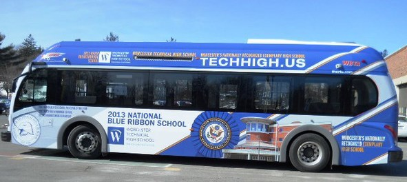 Blue Ribbon bus in Mass.
