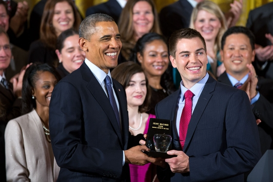 President Obama with Sean McComb