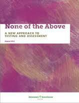 None of the Above report cover