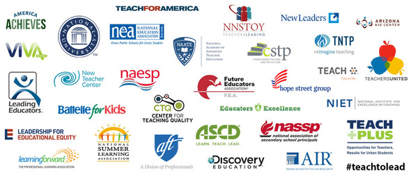 Logos of Teach to Lead supporting organizations
