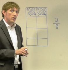 video clip showing new approach to teaching fractions