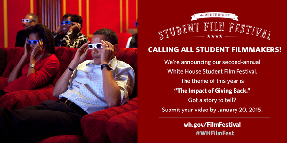 announcement for second annual White House film festival