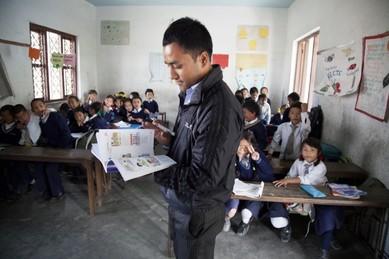 teacher in Nepal