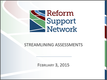 Streamlining Assessments Webinar