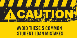 common student loan mistakes