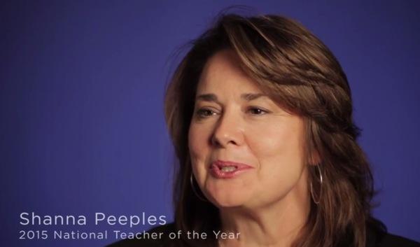 Teacher of the Year Shanna Peeples