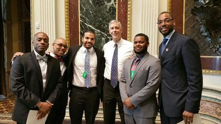 Arne Duncan with teachers at the White House Teacher Appreciation Program May 5