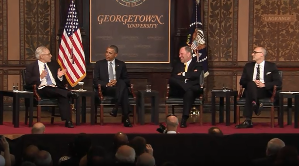 President sits on Panel