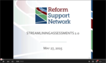 Streamlining Assessments Webinar recordings