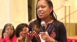 Natasha Bowden speaking at the Teach to Lead Summit in Washington, D.C.