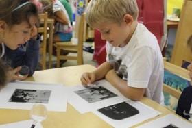 students study photos