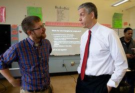 arne with a teacher