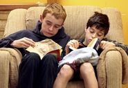 students read at lunchtime