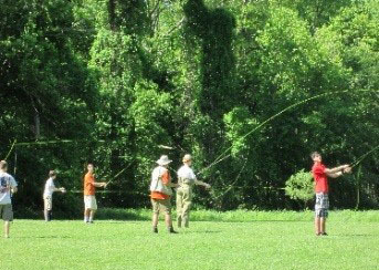 Fly fishing at Broadneck High School