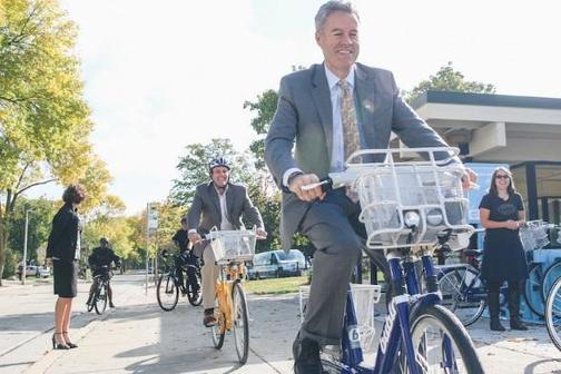 Chancellor Mone on Bublr Bikeshare