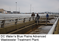 from DC Water's Blue Plains Advanced Wastewater Treatment Plant