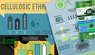 Collage of winning infographics from the U.S. Department of Energy's Bioenergy Technologies Office's 2015 BioenergizeME Infographic Challenge.
