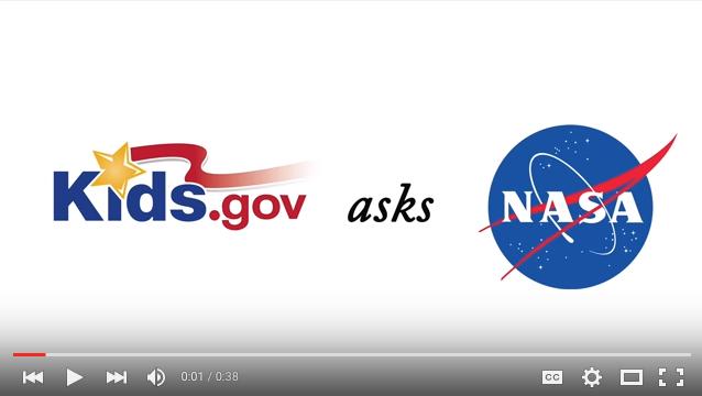 Kids.gov NASA videos on YouTube