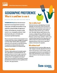 Geographic Preference Fact Sheet