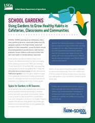 School Garden Fact Sheet