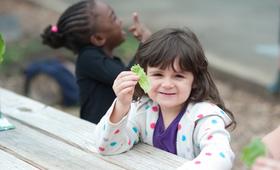 Girl Eating Lettuce