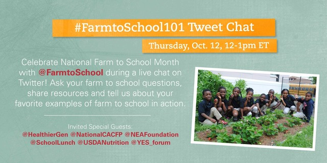 National Farm to School Network Tweet Chat logo