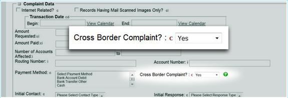 cross border complaint