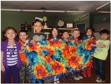 tie blankets with kids