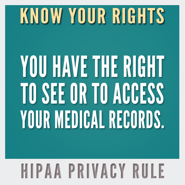 Information is powerful medicine understanding your hipaa rights