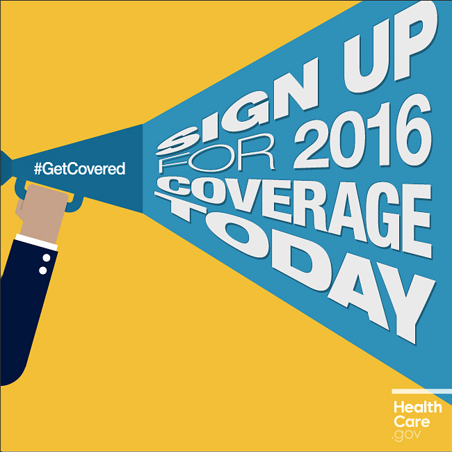 Sign Up For 2016 Coverage Today