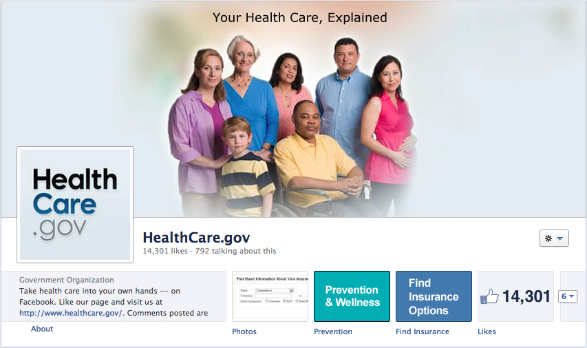 HealthCare.gov on Facebook