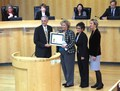 Congresswoman Zoe Lofgren presented the Commerce Department's Export Achievement Certificate to the City of San Jose.