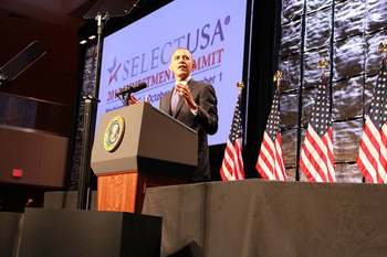 President Obama speaks about foreign direct investment at the SelectUSA 2013 Investment Summit.