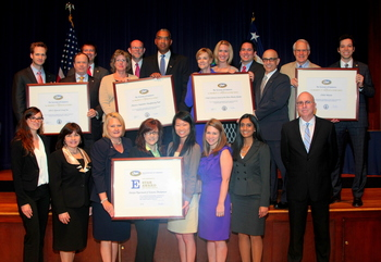 65 companies were recognized at the E Awards Ceremony for their contributions to U.S. exports.