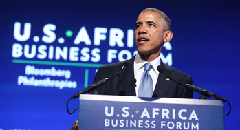 President Obama speaks at US-Africa Business Forum